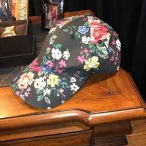 BCBG NWOT floral print baseball cap